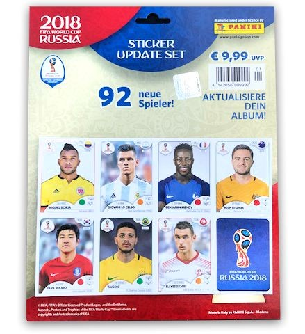 2018 FIFA World Cup Russia Stickerkollektion – Update-Set