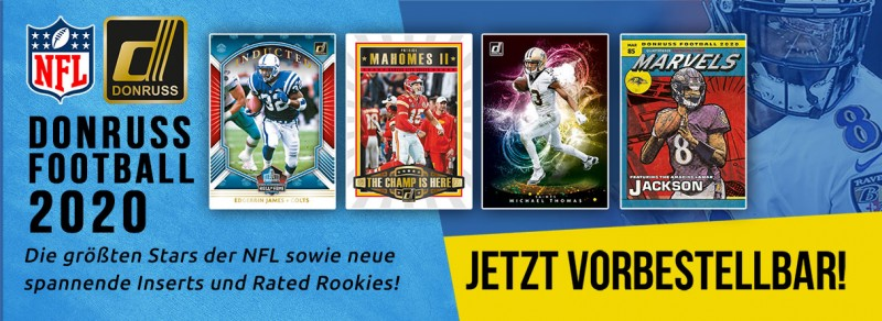 NFL Donruss Football 2020 - Die größten Stars der NFL sowie neue spannende Inserts und Rated Rookies!