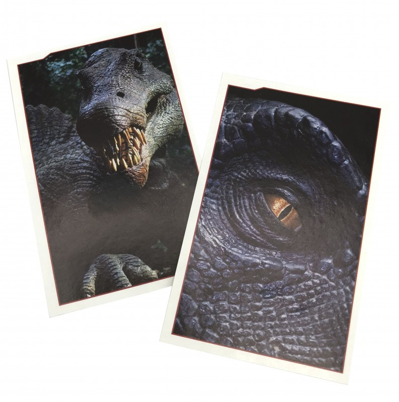 Jurassic World Anthology Sticker & Cards Dinosaurier Aufkleber Beispiel