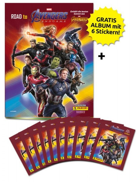 Road to Avengers Endgame - Sticker und Trading Cards - Schnupperbundle