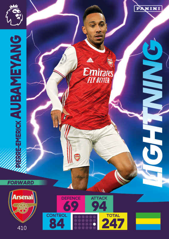 Panini Premier League Adrenalyn XL 2020/21 - Lightning - Pierre Emerick Aubameyang