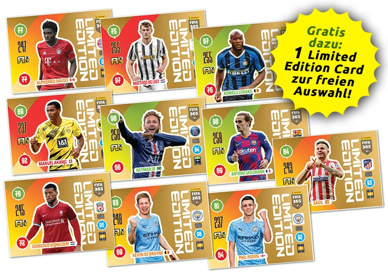 Panini FIFA 365 Adrenalyn XL 2021 - Übersicht Multipack LE-Cards