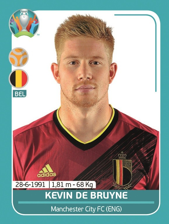 UEFA EURO 2020 Official Sticker Preview Collection - Kevin De Bruyne