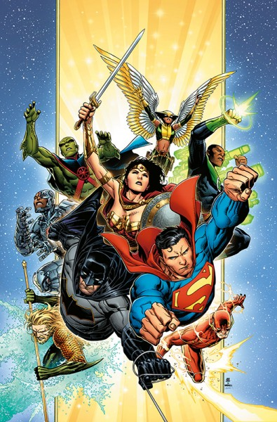 Justice League von Scott Snyder 1 Deluxe Edition Cover