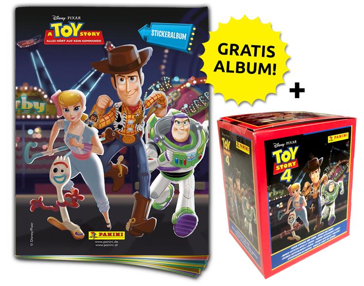 Disney Toy Story 4 - Sticker und Sammelkarten - Sticker-Starter-Bundle