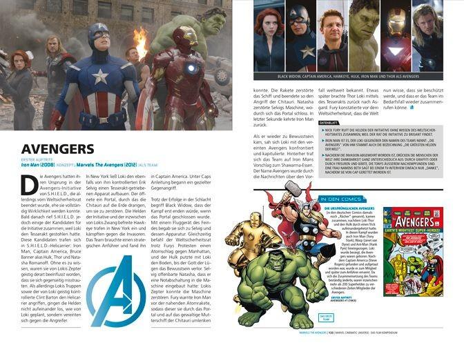 Marvel Cinematic Universe – Blick ins Buch mit vielen Infos zu den Filmen