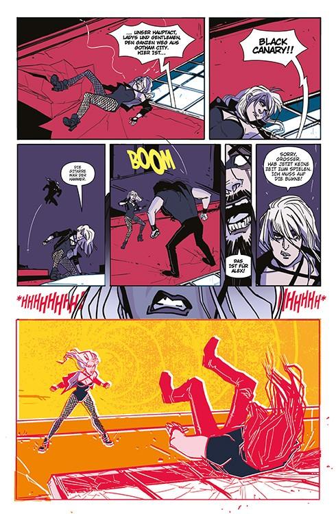 Black Canary Blick in den Comic Vorschauseite