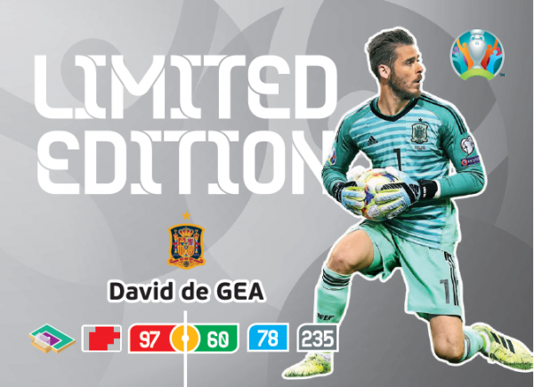 UEFA Euro 2020 Adrenalyn XL Limited Edition Card David de Gea