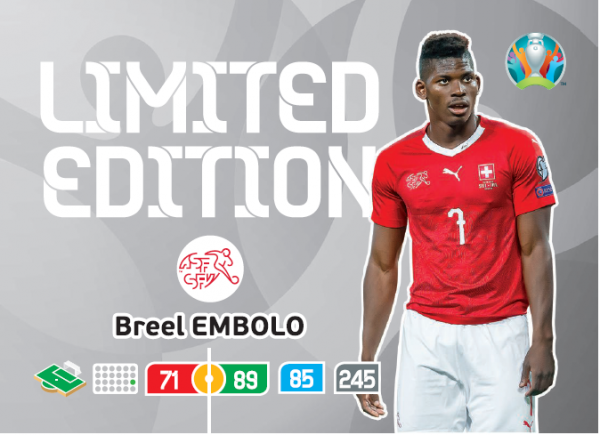 UEFA Euro 2020 Adrenalyn XL Limited Edition Card Breel Embolo