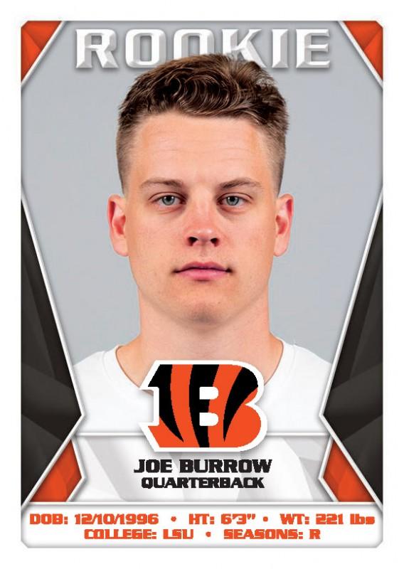 NFL 2020 Sticker & Trading Cards - Joe Burrow