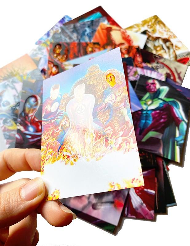 80 Jahre Marvel Sticker und Trading Cards Beispiel 2 UV Lackierung der Cards