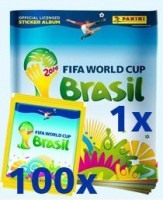 FIFA World Cup Brasilien 2014 Sticker - Album mit 100 Tüten