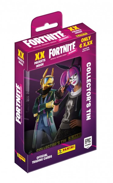 Fortnite Reloaded Trading Cards - Pocket Tin Box mit 3 Packs