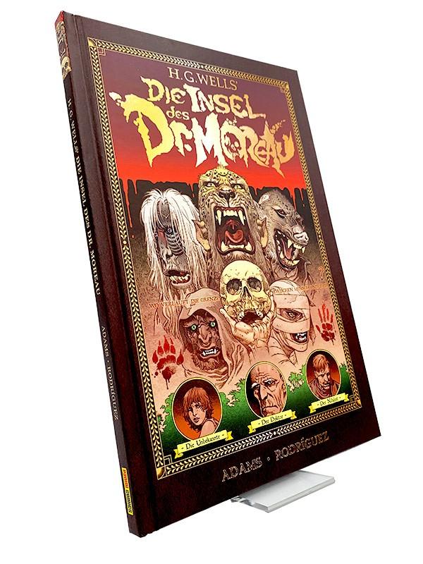 Die Insel des Dr. Moreau Blick auf das Comic-Hardcover