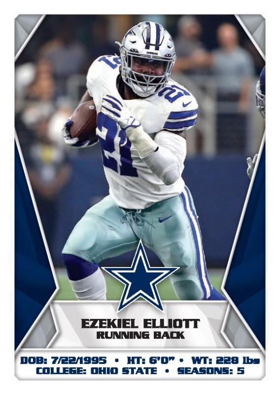 NFL 2020 Sticker & Trading Cards - Ezekiel Elliott