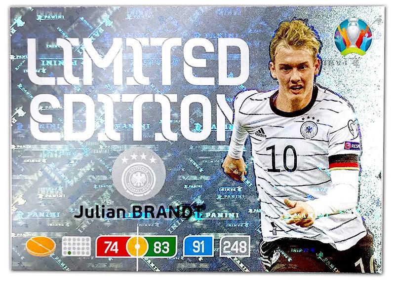 Abbildung der Euro 2020 Limited Edition Card von Julian Brandt