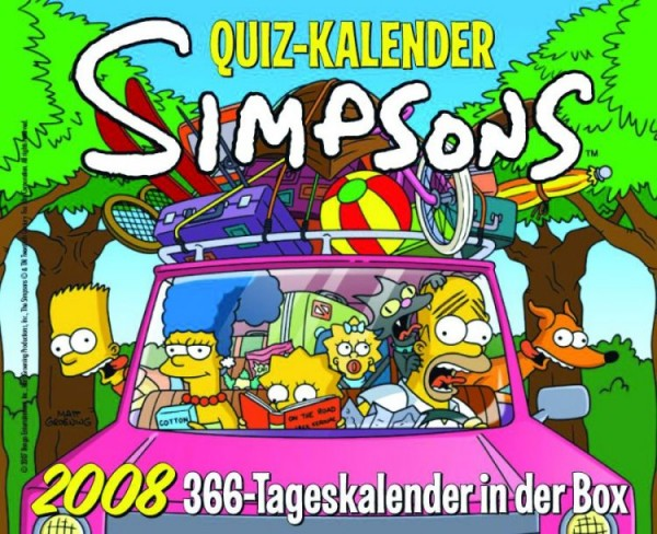 Simpsons - Quiz Kalender (2008) 366-Tageskalender in der Box