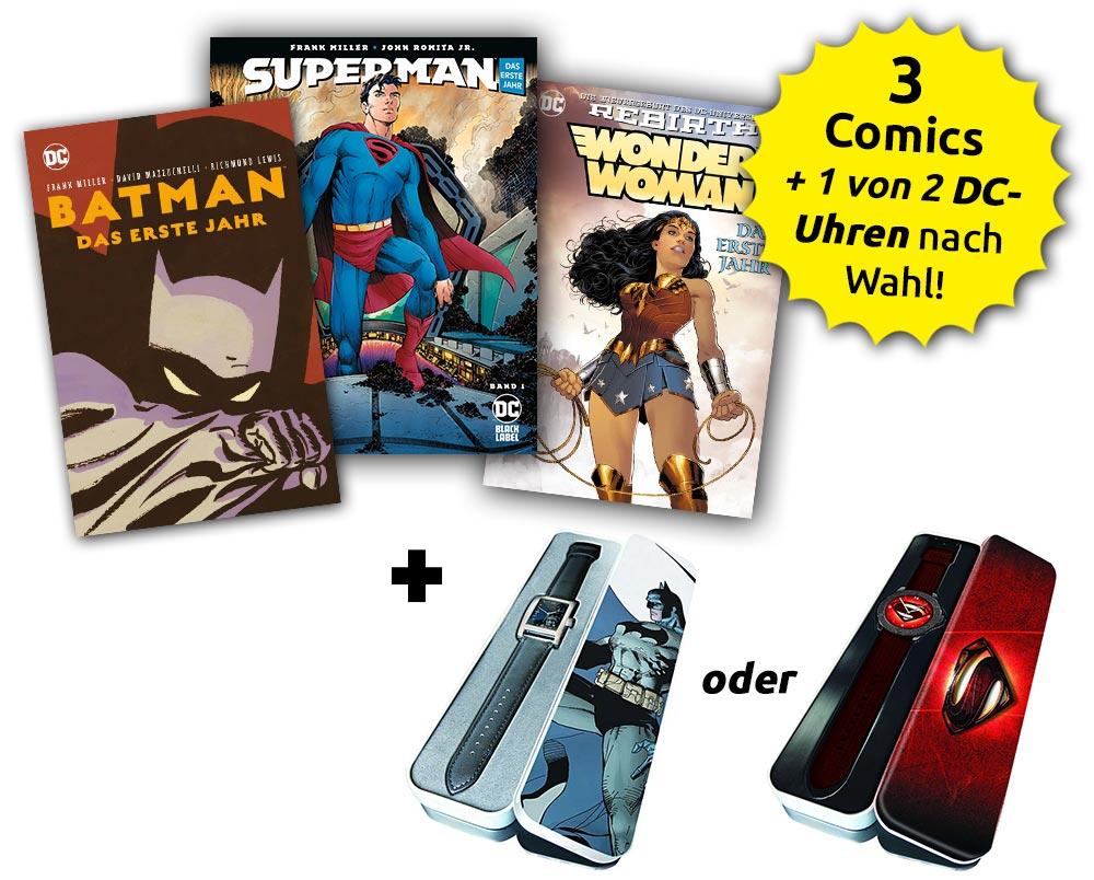 Superhelden-Bundle für DC-Neuleser