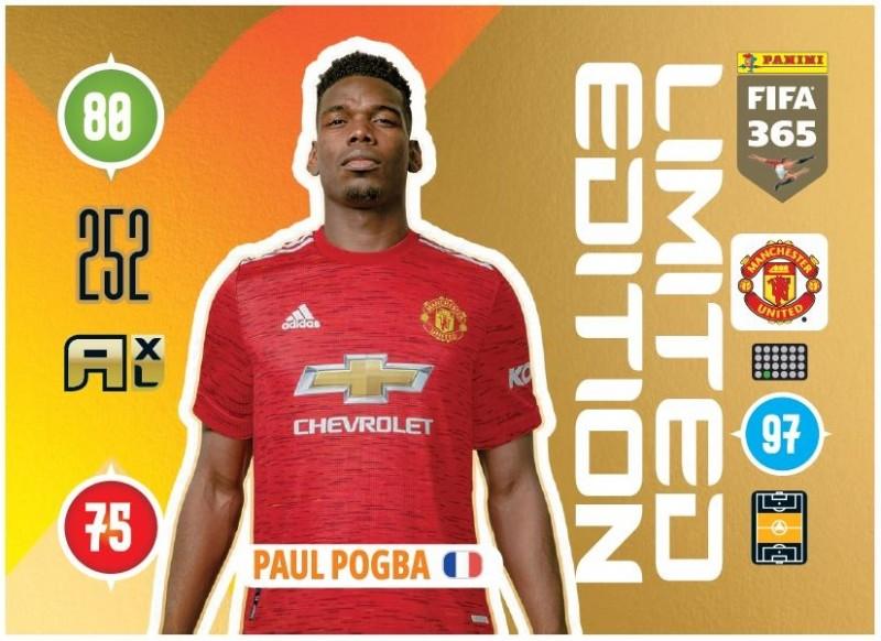 Panini FIFA 365 Adrenalyn XL - Limited Edition Card Paul Pogba
