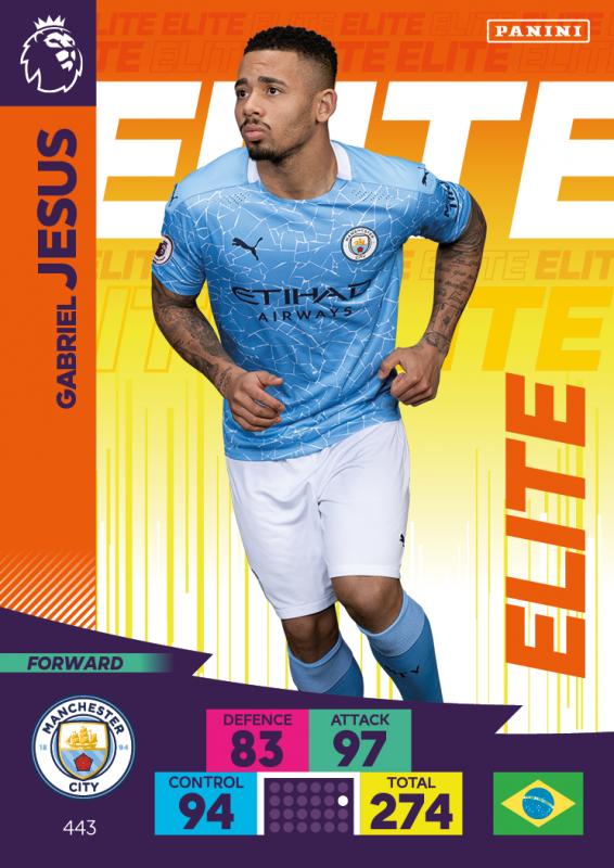 Panini Premier League Adrenalyn XL 2020/21 - Elite - Gabriel Jesus