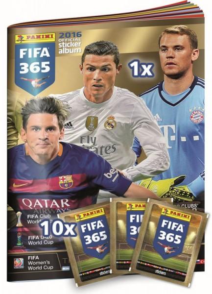 FIFA 365 2016 - Starter-Set - Album mit 10 Tüten