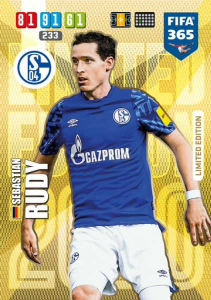 Panini FIFA 365 Adrenalyn XL 2020 Kollektion – LE-Card Sebastian Rudy