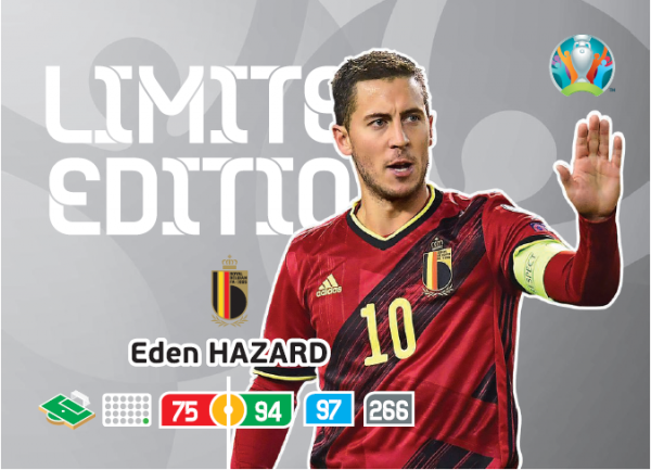 UEFA Euro 2020 Adrenalyn XL Limited Edition Card Eden Hazard