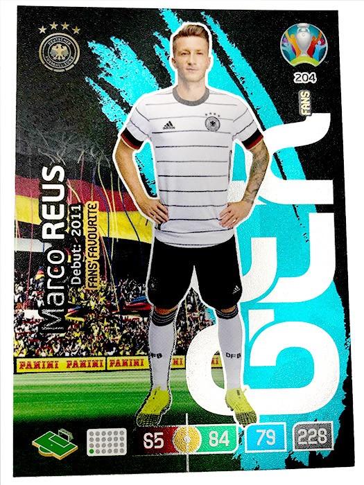 Abbildung von der Marco Reus Card der UEFA Euro 2020 Adrenalyn XL