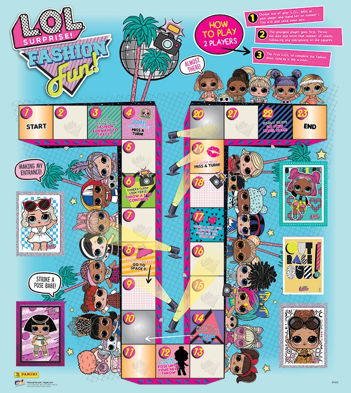 L.O.L. Surprise! Fashion Fun Stickerkollektion Poster
