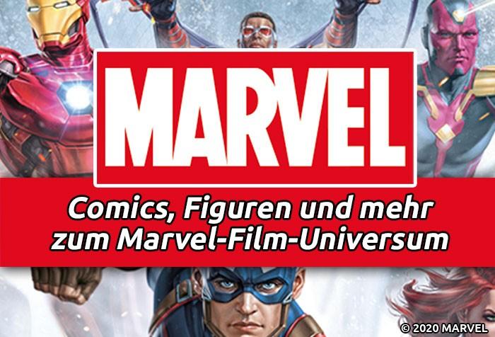 Marvel – Comics, Figuren, Bücher und mehr zum Marvel-Film-Universum