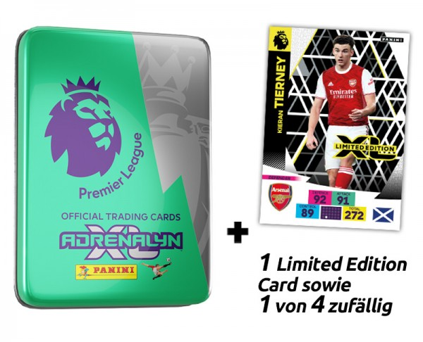 Panini Premier League Adrenalyn XL 2020/21 Kollektion – Pocket-Tin grün