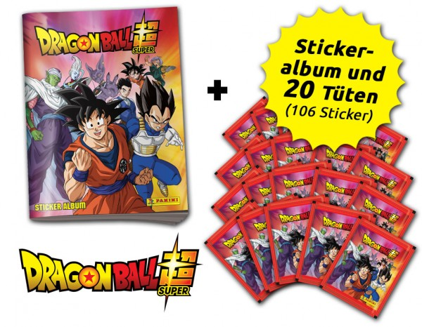 Dragon Ball Super Stickerkollektion  - Sammelbundle mit 20 Tüten