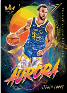 NBA Court Kings 2019/20 Trading Cards - Aurora Stephen Curry