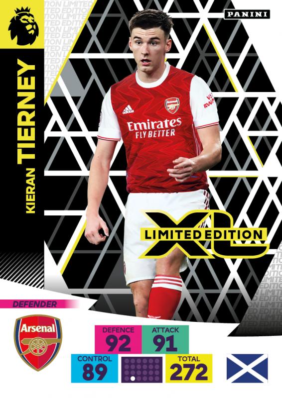 Panini Premier League Adrenalyn XL 2020/21 - Limited Edition Card - Kieran Tierney