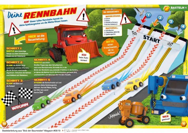Deine Rennbahn bauen mit Bob der Baumeister