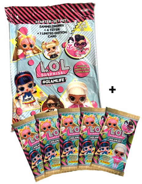 L.O.L. Surprise! #Glamlife Trading Cards Kollektion - Schnupperbundle
