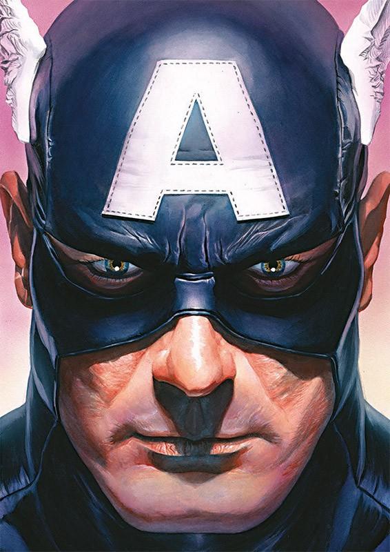 80 Jahre Marvel Sticker und Cards - Beispiel Captain America