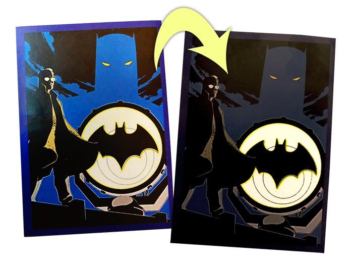80 Jahre Batman Jubiläumskollektion: Special Sticker leuchtend Beispiel