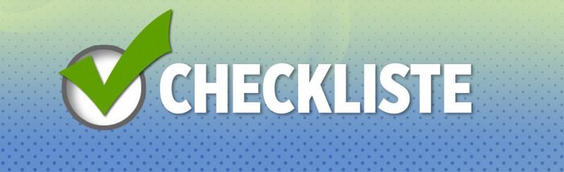 Checkliste Banner