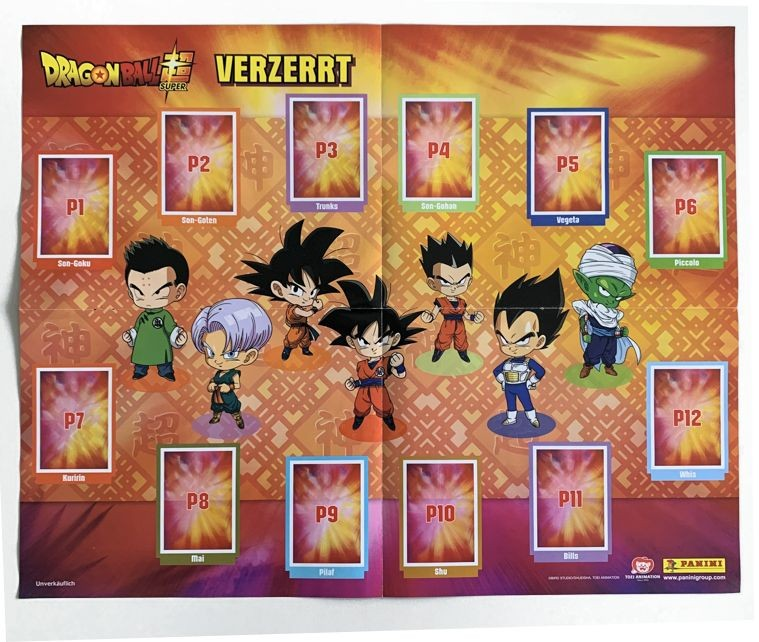 Dragon Ball Super Sticker Highlight Mega Poster Front
