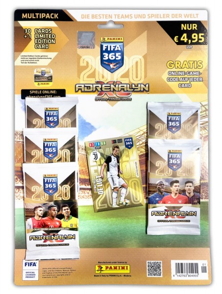 Panini FIFA 365 Adrenalyn XL 2020 Kollektion – Multipack