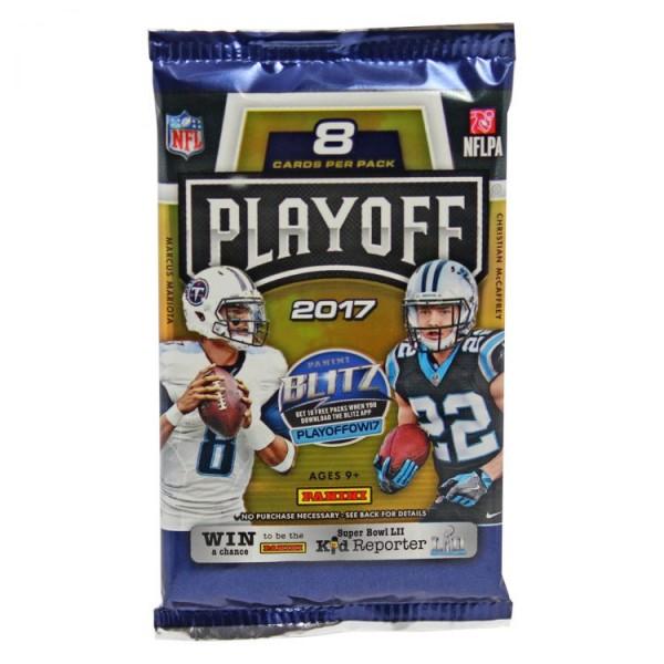 NFL 2017 Playoff Trading Cards - Booster mit 8 Karten