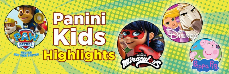 Kids Highlights bei Panini mit Miraculous, Peppa Pig und Disney Familienspass