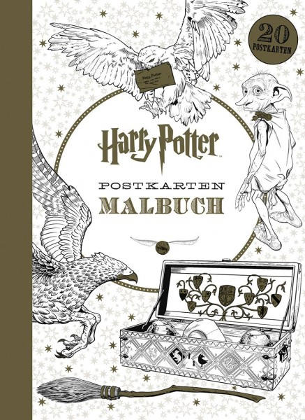 Harry Potter - Postkarten Malbuch