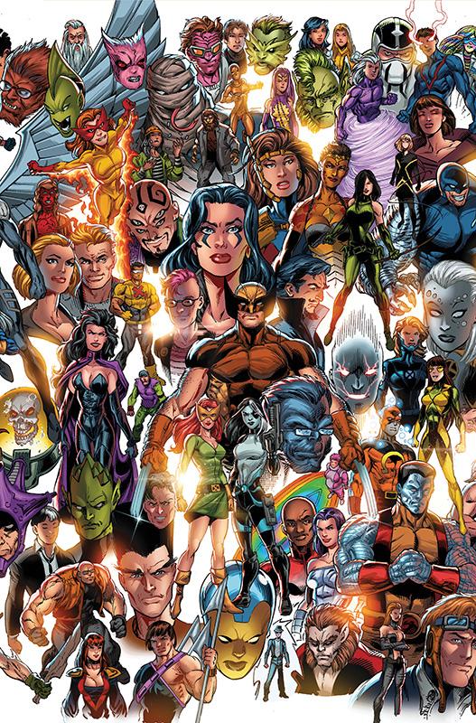 X-Men 4 Panorama Variant