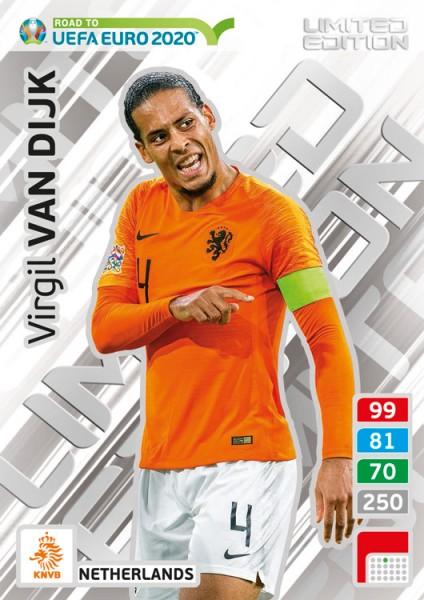 Road To UEFA Euro 2020 Adrenalyn XL - LE-Card Virgil Van Dijk/Ned