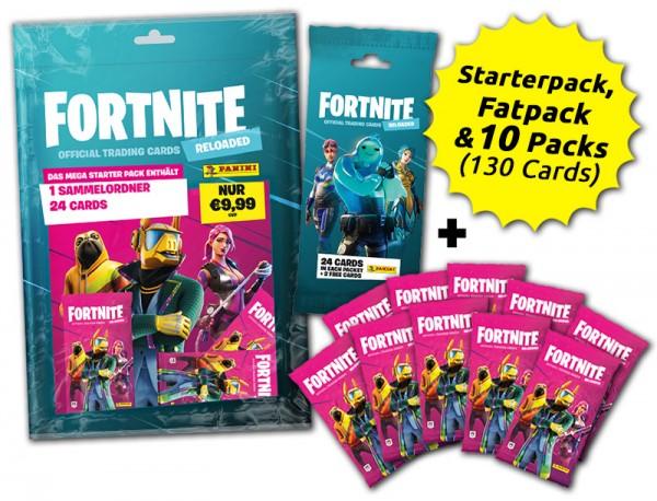 Fortnite Reloaded Trading Cards - Starter Bundle - Starterset mit Sammelordner und 3 Packs