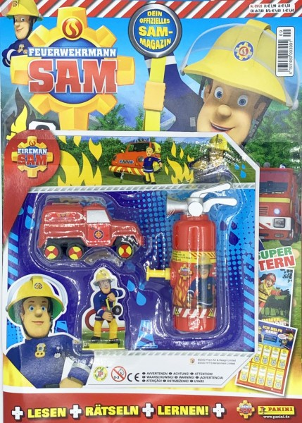Feuerwehrmann Sam Magazin 09/20 Packshot mit Extra