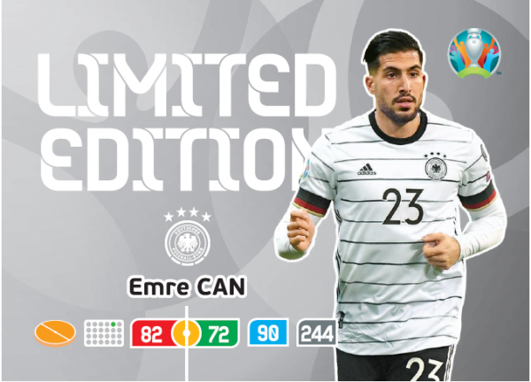 UEFA Euro 2020 Adrenalyn XL Limited Edition Card Emre Can