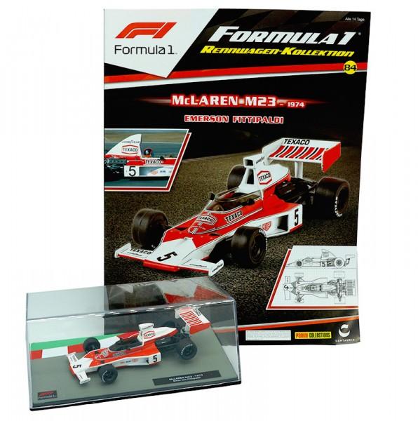 Formula 1 Rennwagen-Kollektion 84: Emerson Fittipaldi (McLaren M23)
